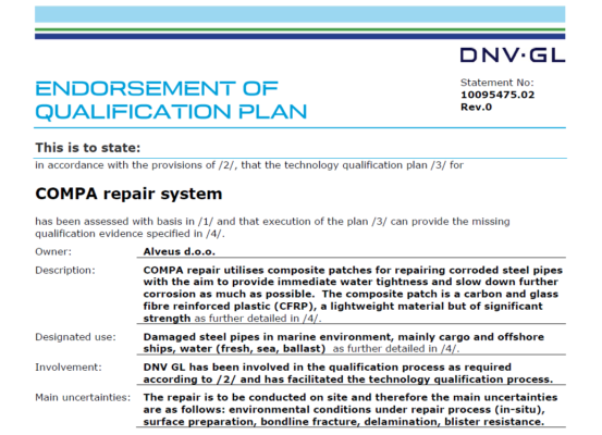 endorsement dnvgl